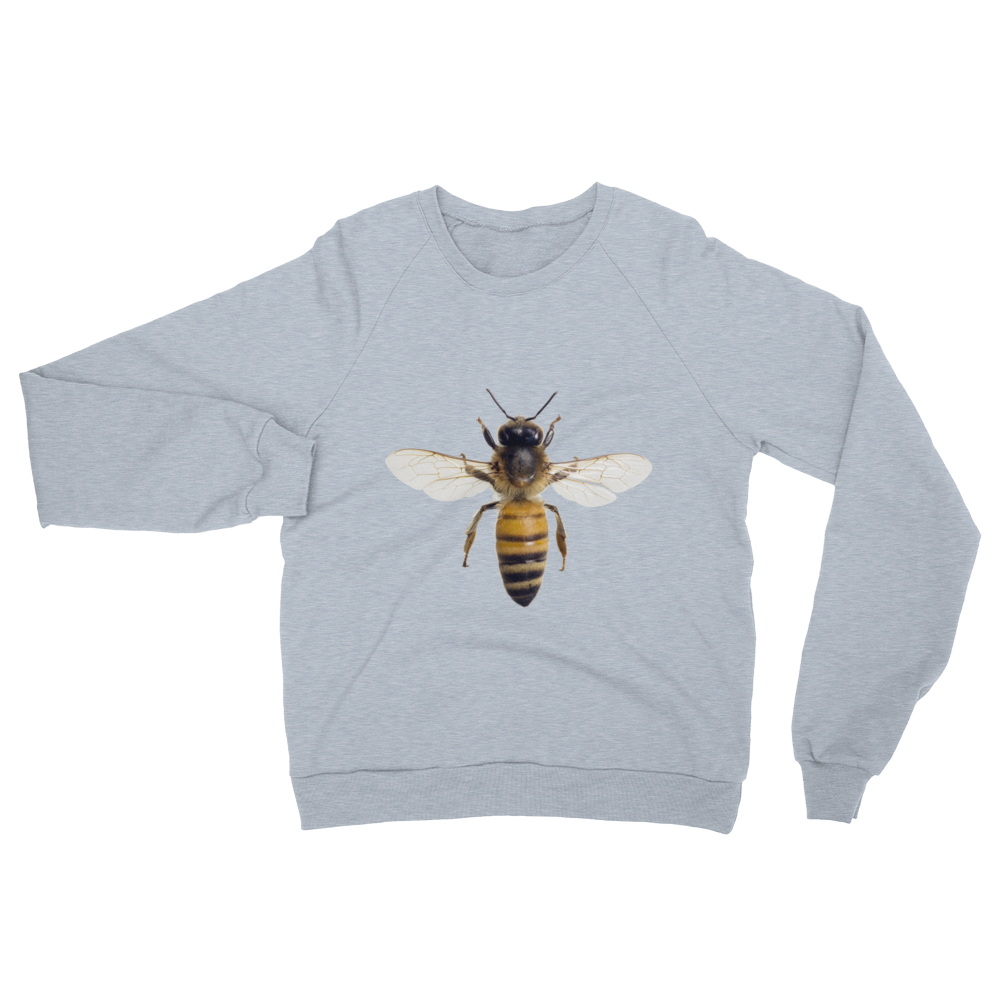 Honey-Bee print Unisex California Fleece Raglan Sweatshirt