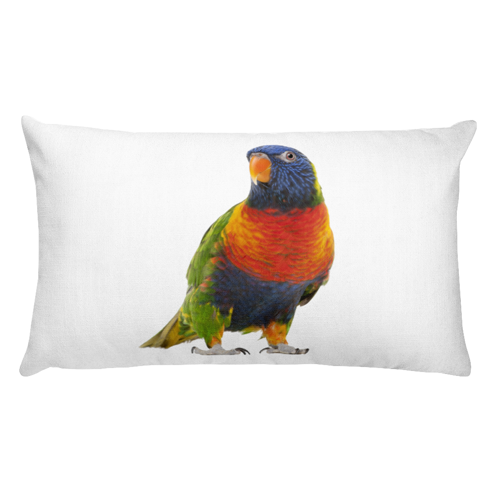 Parrot Print Rectangular Pillow