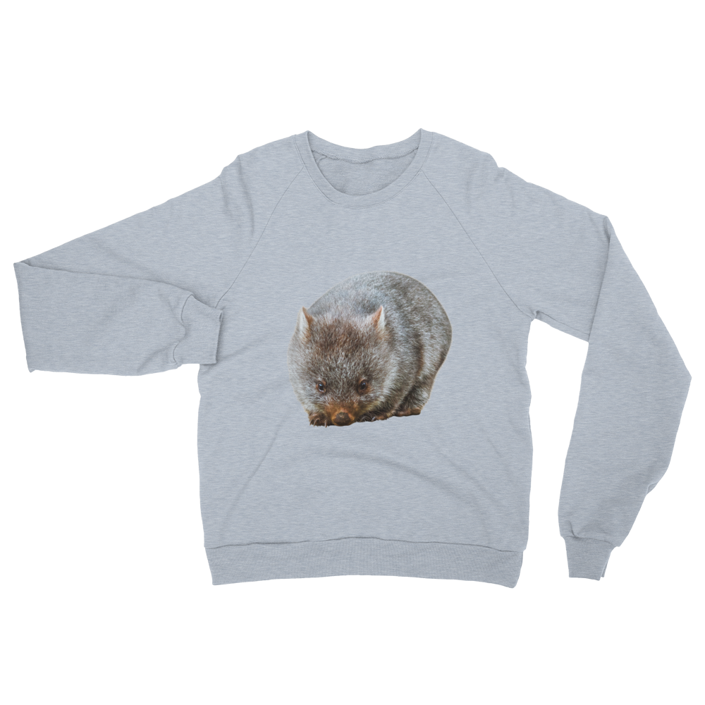 Wombat print Unisex California Fleece Raglan Sweatshirt