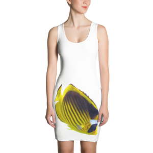 Butterfly-Fish Print Sublimation Cut & Sew Dress