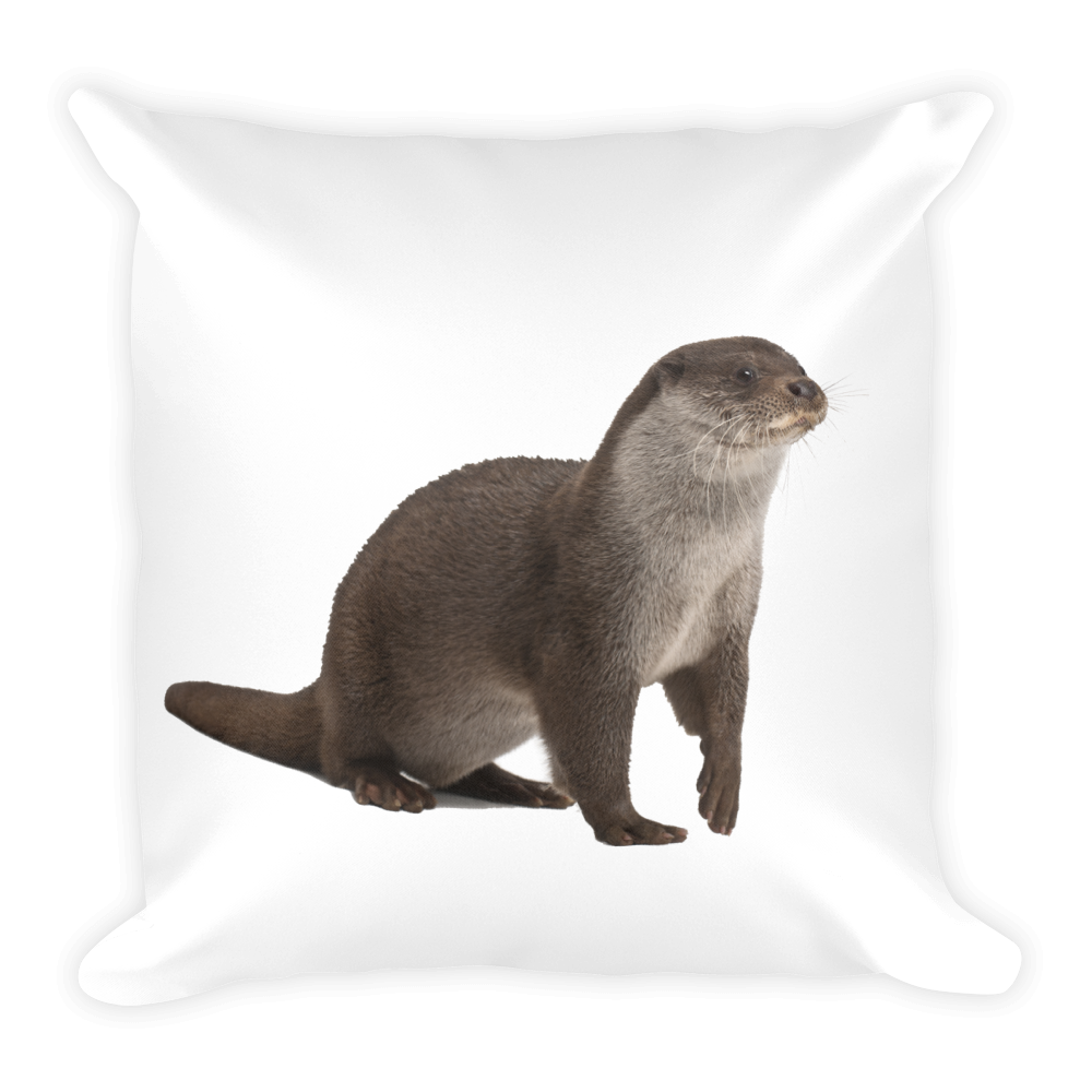 European-Otter Print Square Pillow