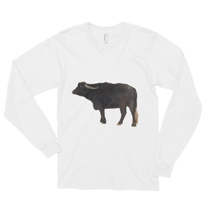 Water-Buffalo Print Long sleeve t-shirt (unisex)