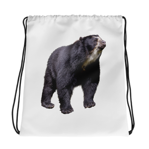 Specticaled-Bear Print Drawstring bag