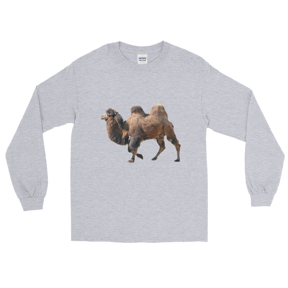 Bactrian-Camel Print Long Sleeve T-Shirt