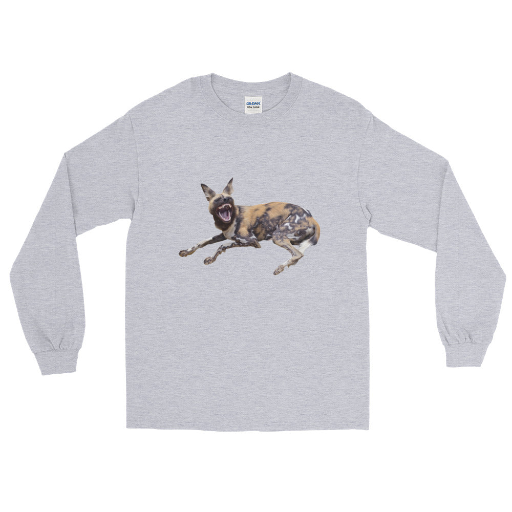 African-Wild-Dog Print Long Sleeve T-Shirt