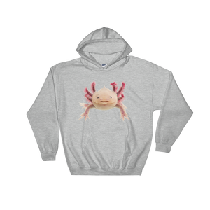 Axolotle Print Hooded Sweatshirt