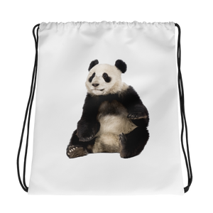 Giant-Panda Print Drawstring bag
