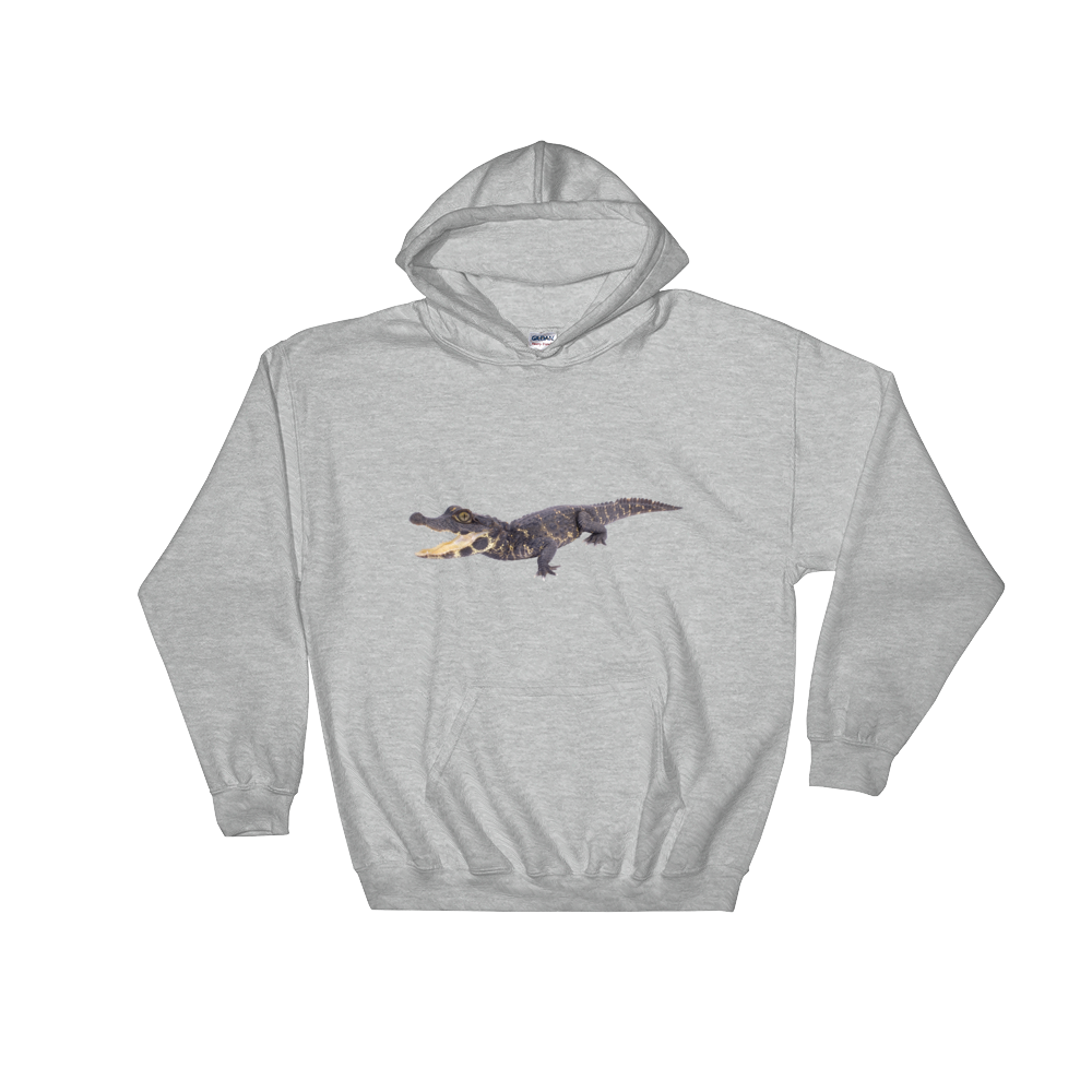 Dwarf-Crocodile Print Hooded Sweatshirt