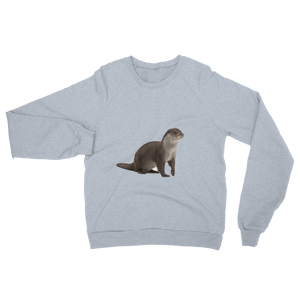 European-Otter print Unisex California Fleece Raglan Sweatshirt