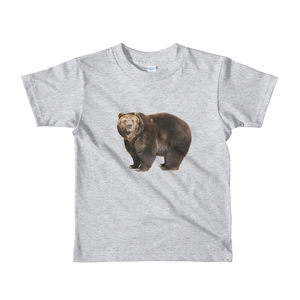 Brown-Bear- Print Short sleeve kids t-shirt