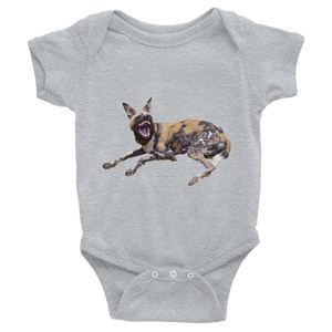 African-Wild-Dog Print Infant Bodysuit