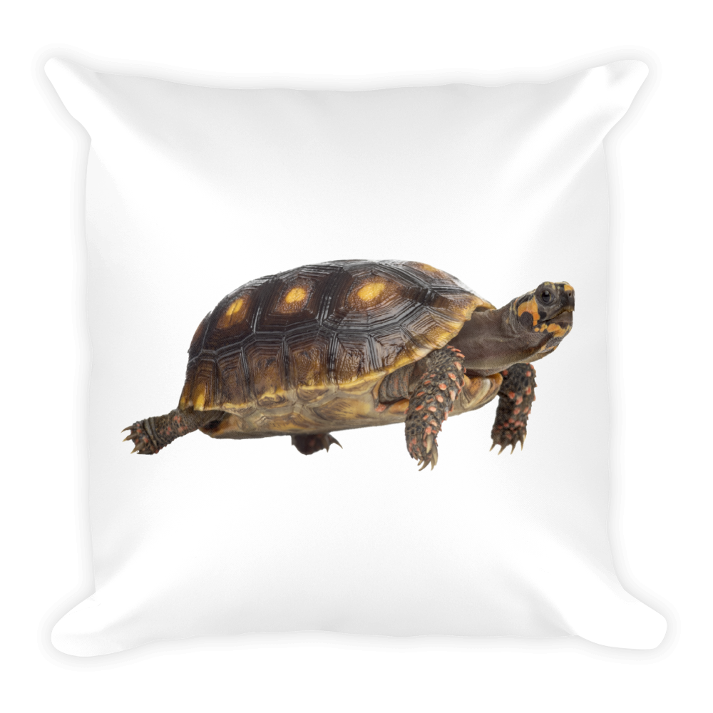 Tortoise Print Square Pillow