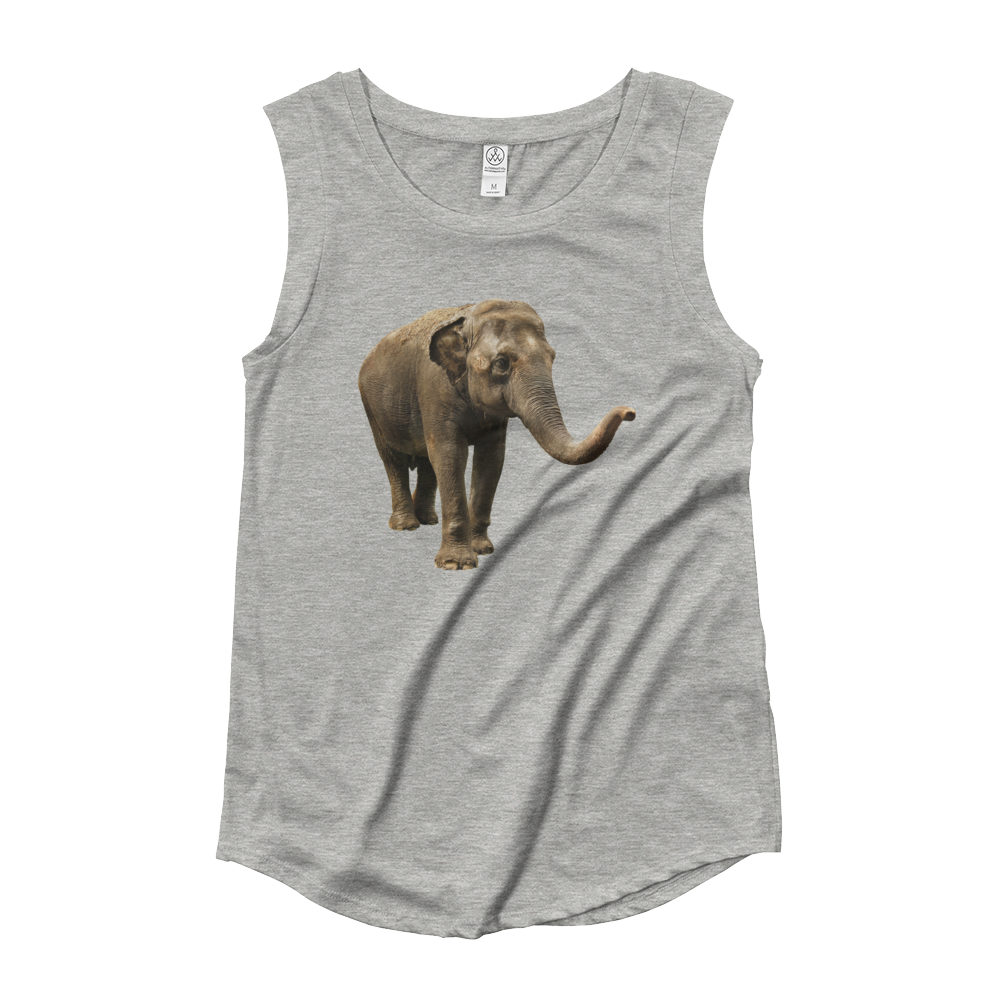 Indian-Elephant Ladies‰۪ Cap Sleeve T-Shirt