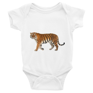 Siberian-Tiger Print Infant Bodysuit