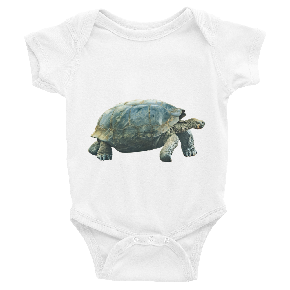 Galapagos-Giant-Turtle Print Infant Bodysuit