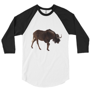 Wilderbeast print 3/4 sleeve raglan shirt