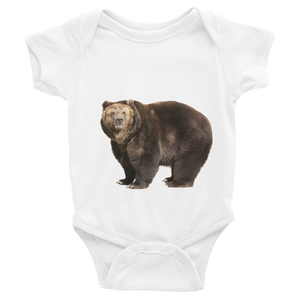Brown-Bear Print Infant Bodysuit