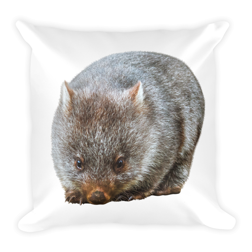 Wombat Print Square Pillow
