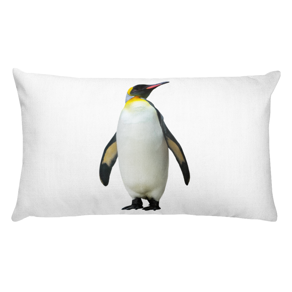Emperor-Penguin print Rectangular Pillow