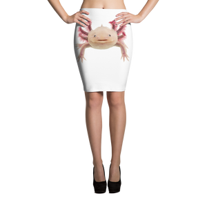 Axolotle Print Pencil Skirt