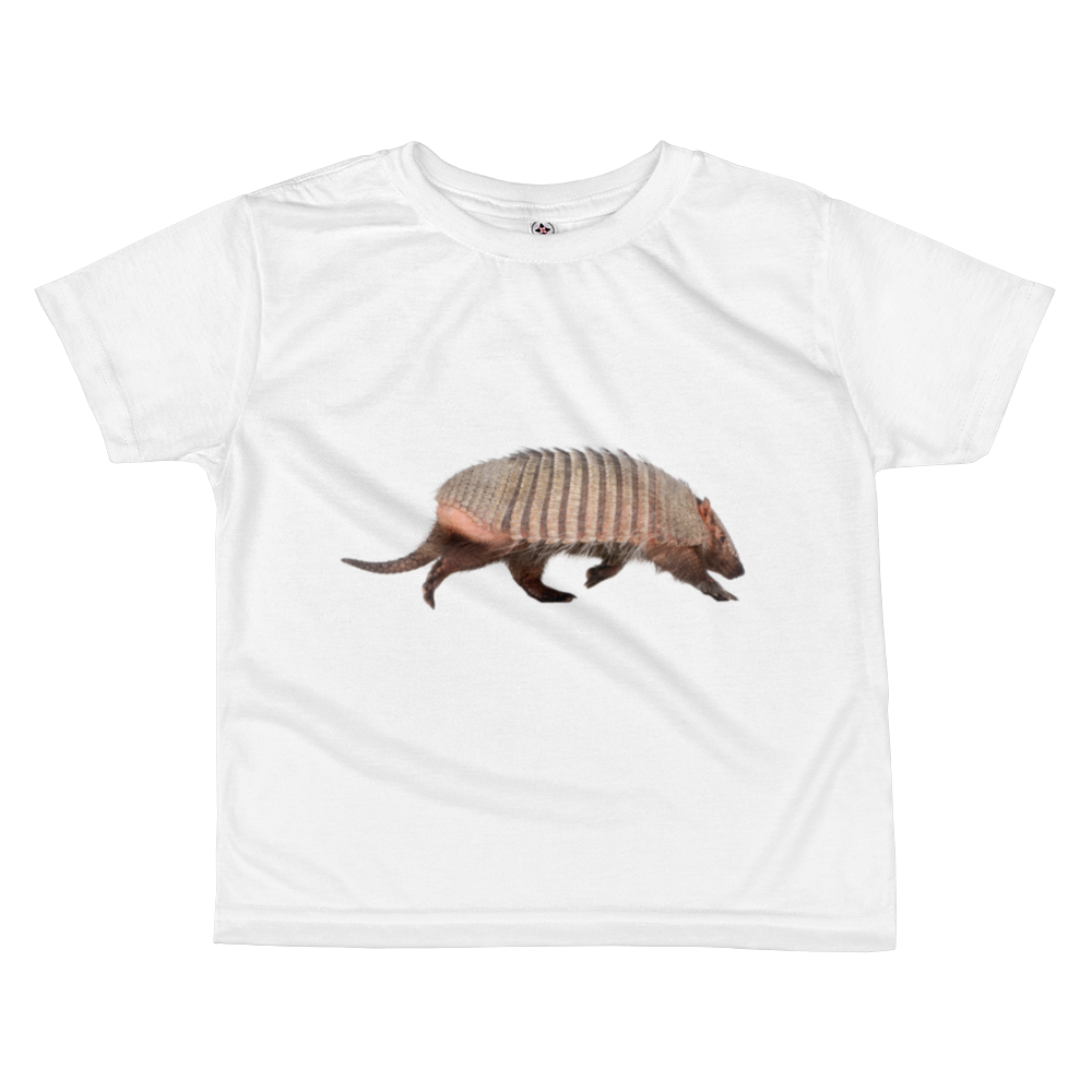 Armadillo Print All-over kids sublimation T-shirt