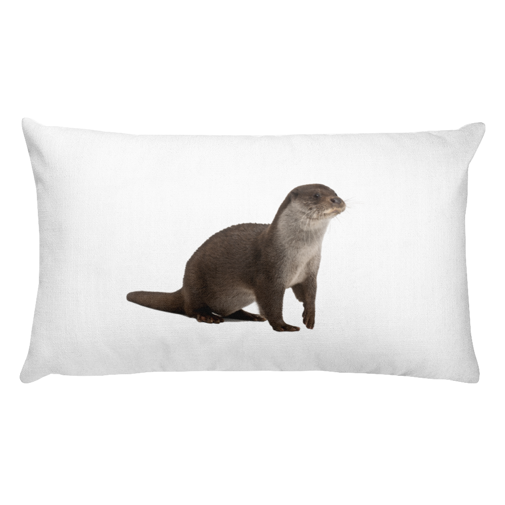 European-Otter Print Rectangular Pillow