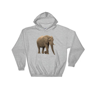 African-Forrest-Elephant Print Hooded Sweatshirt