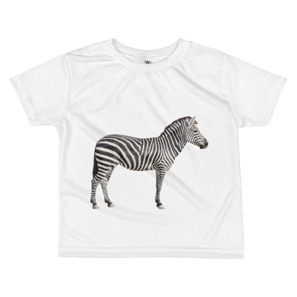 Zebra Print All-over kids sublimation T-shirt