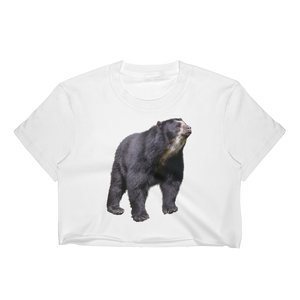 Specticaled-Bear Print Women's Crop Top