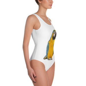 Macaw Print One-Piece Swimsuit