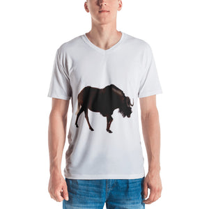 Wilderbeast Print Men's V neck T-shirt