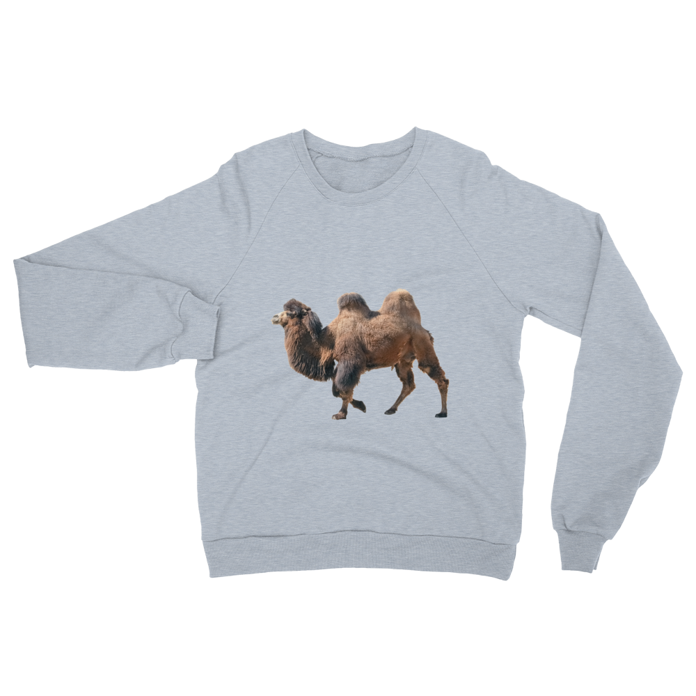 Bactrian-Camel- print Unisex California Fleece Raglan Sweatshirt