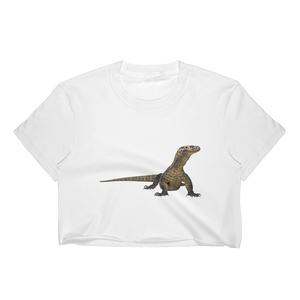 Komodo-Dragon Print Women's Crop Top