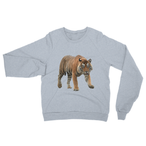 Bengal-Tiger print Unisex California Fleece Raglan Sweatshirt