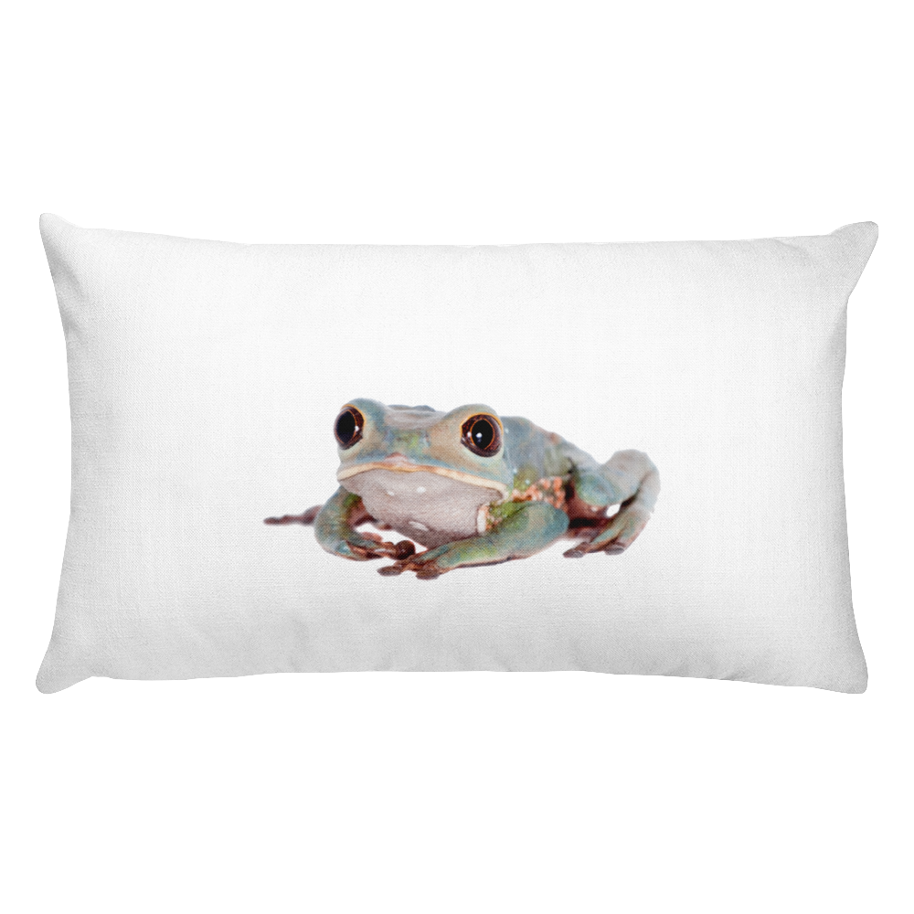 Tarsier-Frog Print Rectangular Pillow