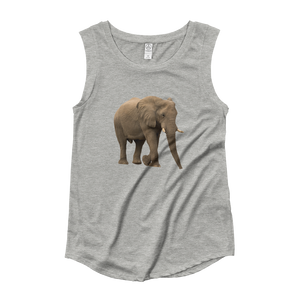 African-Forrest-Elephant Ladies‰۪ Cap Sleeve T-Shirt