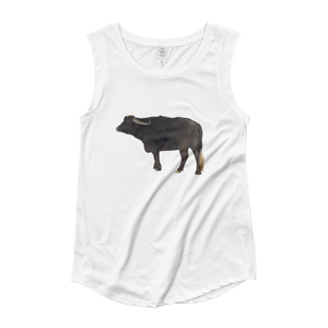 Water-Buffalo Ladies‰۪ Cap Sleeve T-Shirt