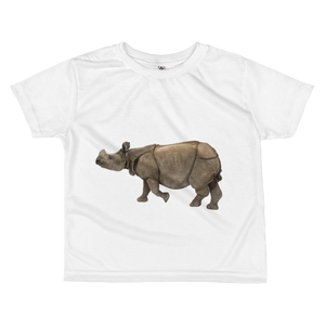 Indian-Rhinoceros print All-over kids sublimation T-shirt