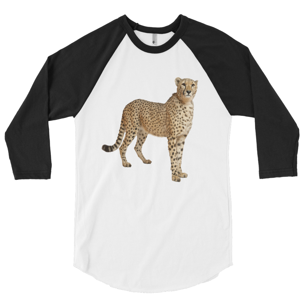 Cheetah Print 3/4 sleeve raglan shirt