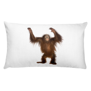 Orang-utan Print Rectangular Pillow
