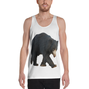 Sloth Bear Print Unisex Tank Top