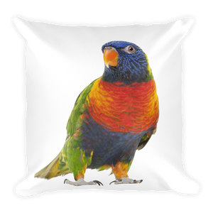 Parrot Print Square Pillow