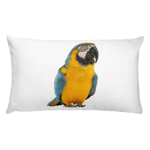 Macaw Print Rectangular Pillow