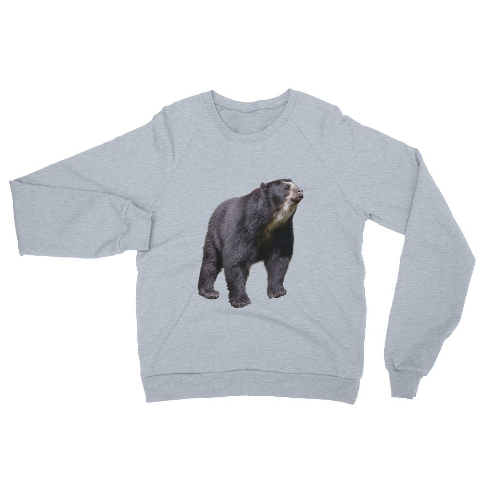 Specticaled-Bear print Unisex California Fleece Raglan Sweatshirt