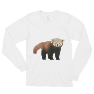 Red-Panda Print Long sleeve t-shirt (unisex)
