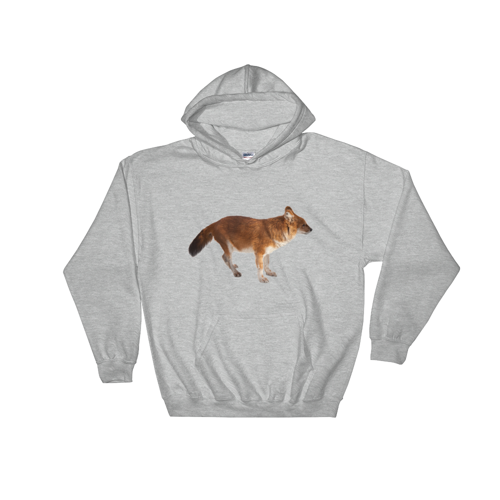 Dhole Print Hooded Sweatshirt