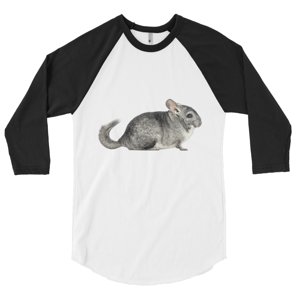 Chinchilla Print 3/4 sleeve raglan shirt