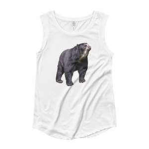Specticaled-Bear Ladies‰۪ Cap Sleeve T-Shirt