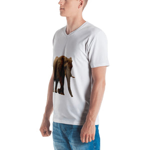 African Forrest Elephant Men's V neck T-shirt