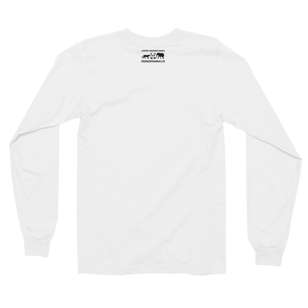 Great-White-Shark Print Long sleeve t-shirt (unisex)